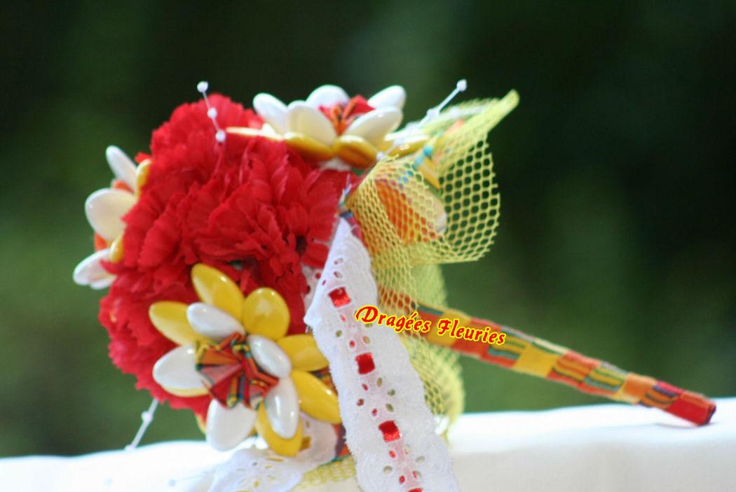 Dragées Fleuries Bouquet mariée en madras