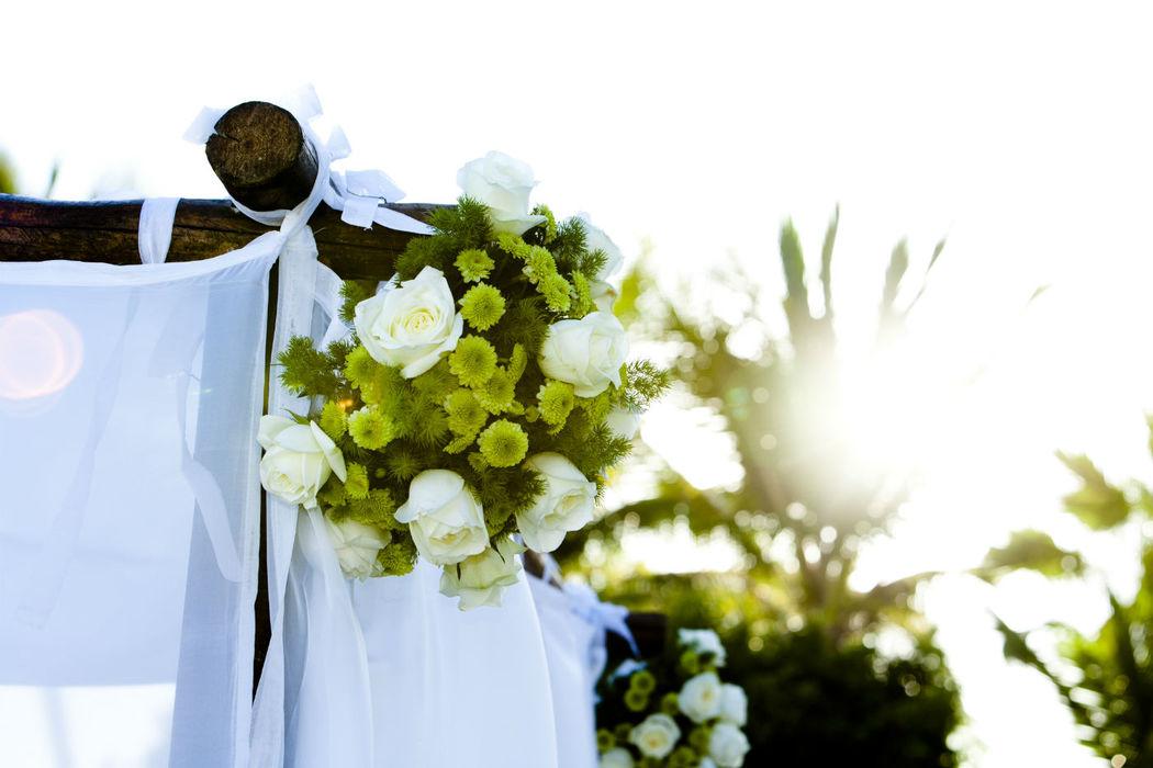Canopy con flores