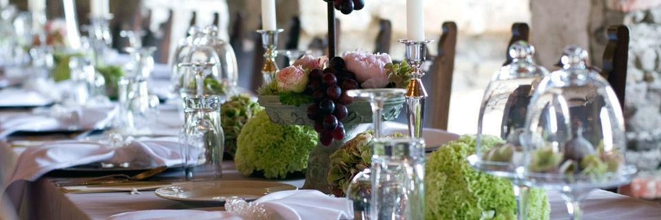 Beispiel: Hochzeitsdekoration, Foto: Blumen Malecek.