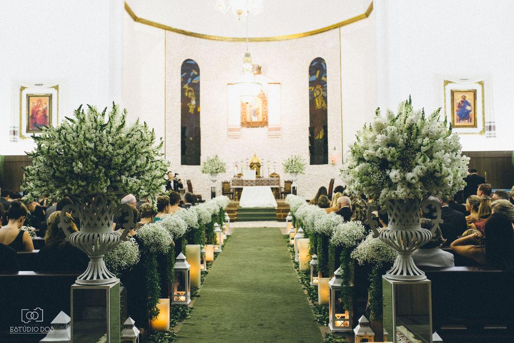 Decoração Arte em flor® - Igreja Nsa Auxiliadora