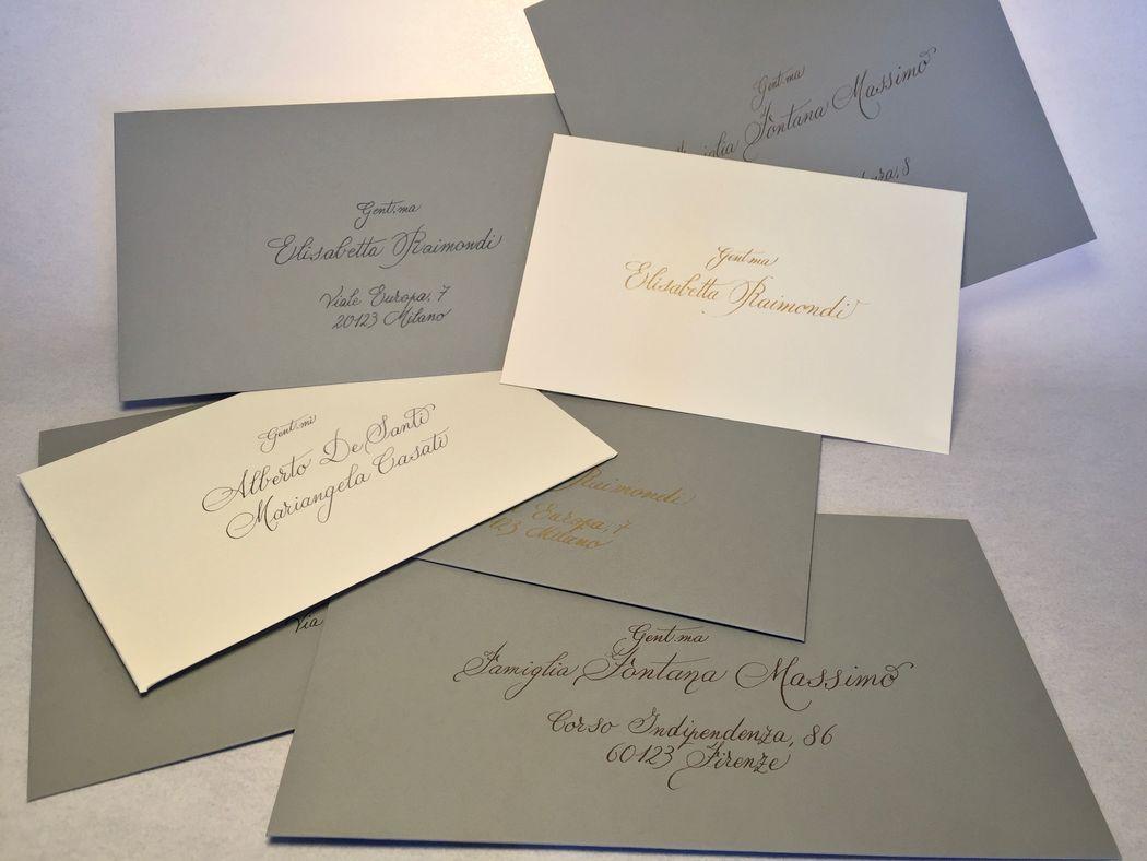 Calligrafia manuale nomi e indirizzi