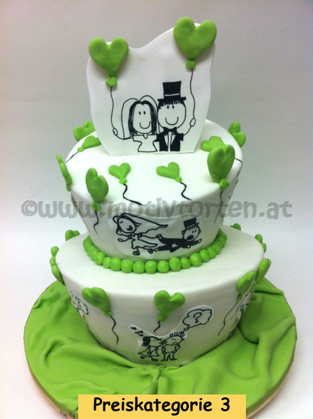 Beispiel: Eine Torte passend zu Ihrem Gesamtkonzept, Foto: Motivtorten.
