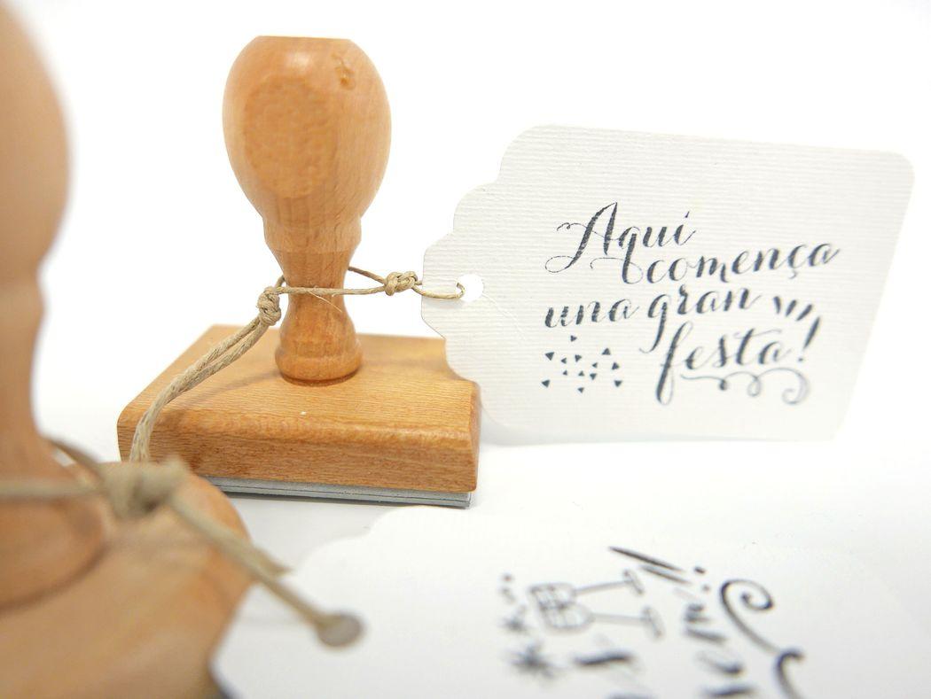 Sellos de madera personalizados para marcarlo todo!