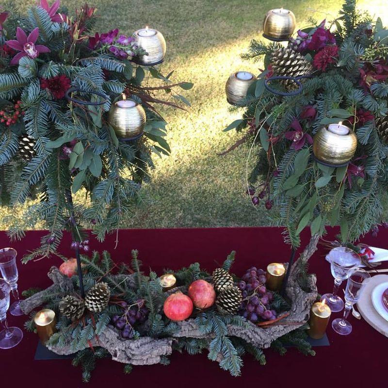 Decoración de mesa para bodas navideñas. The Decoshopper