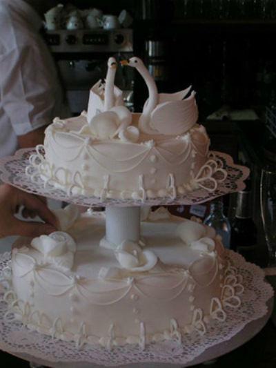Beispiel: Ein Traum von einer Hochzeitstorte, Foto: Tortenkunst.