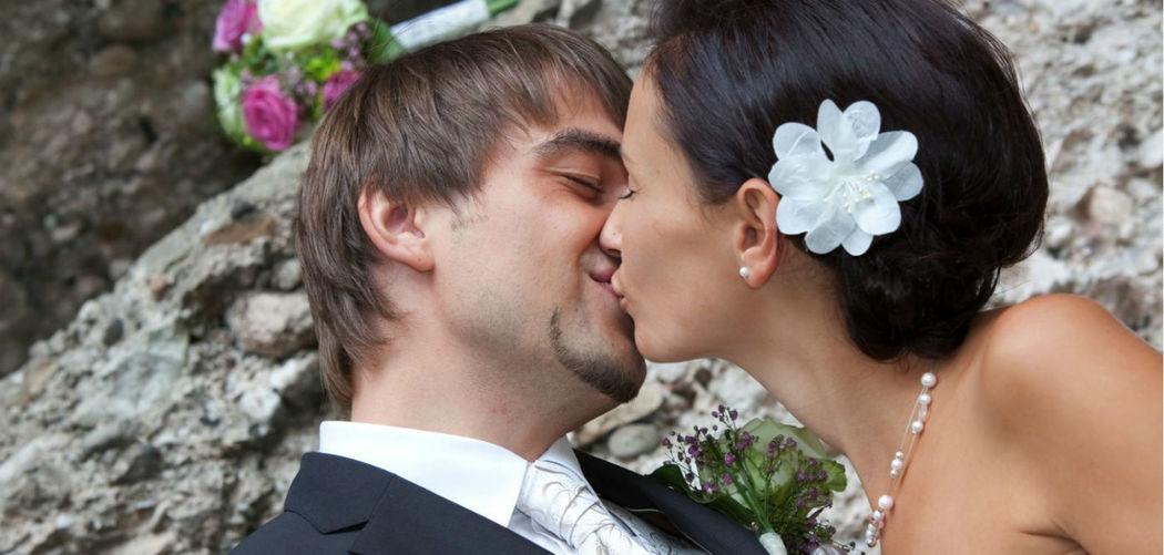 Beispiel: Glückliches Brautpaar, Foto: Hotel Chirstkindlwirt.