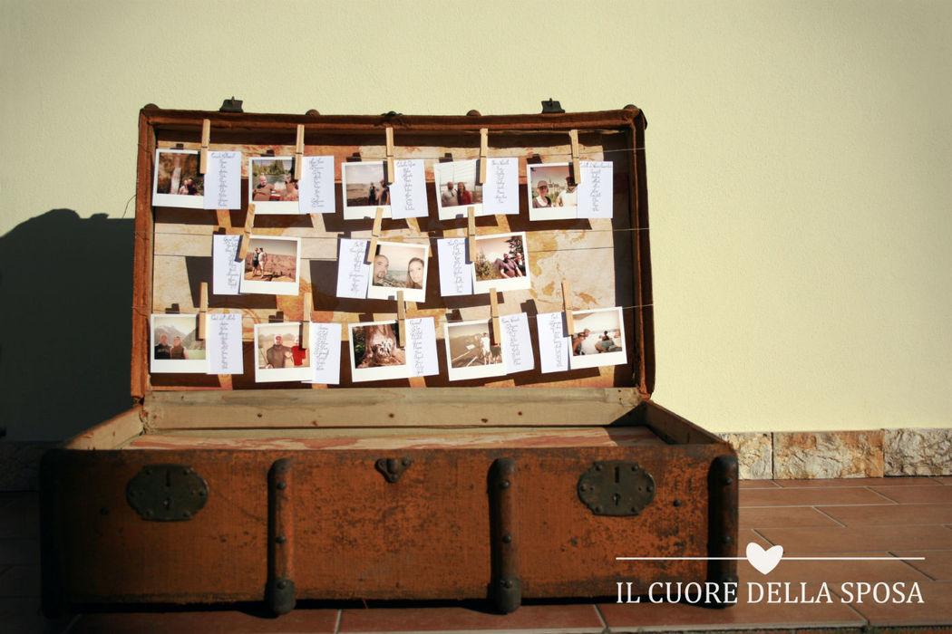 Tableau mariage in valigia