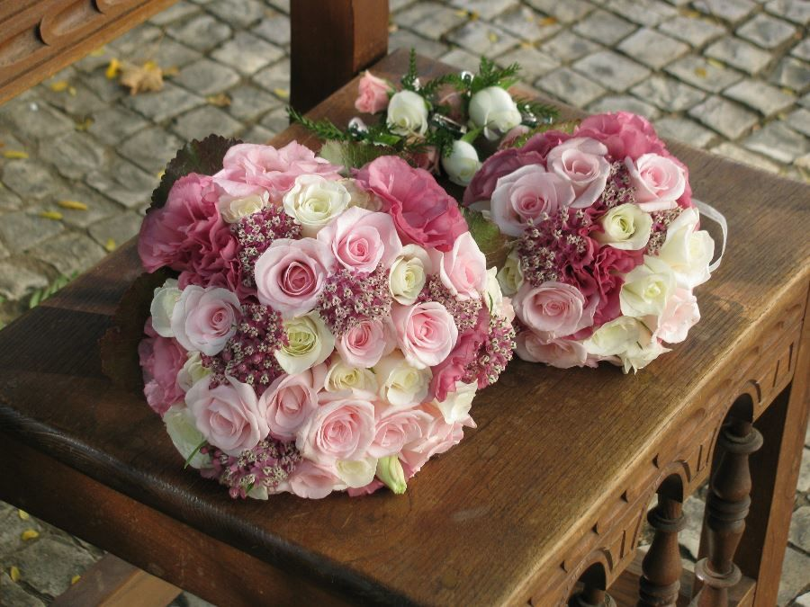 Bouquet de Noiva Rosas cor-de-rosa