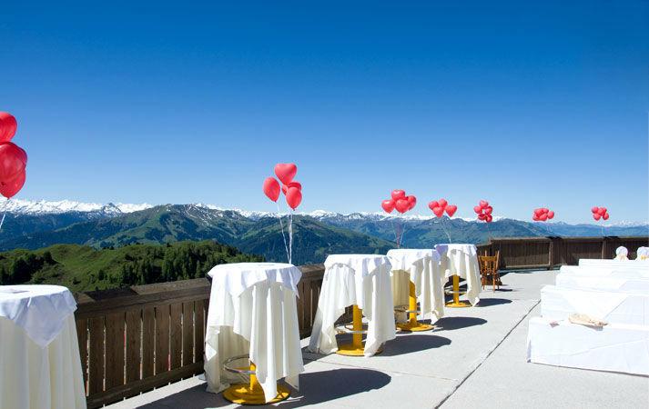 Beispiel: Hochzeitsdekoration, Foto: Alpenhaus.