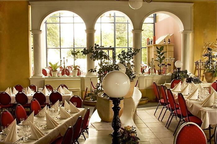 Beispiel: Innenansicht Tischverteilung, Foto: Casa Italiana Da Alberto.