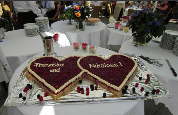 Beispiel: Hochzeitstorte, Foto: Restaurant Höhencafé Killesberg.