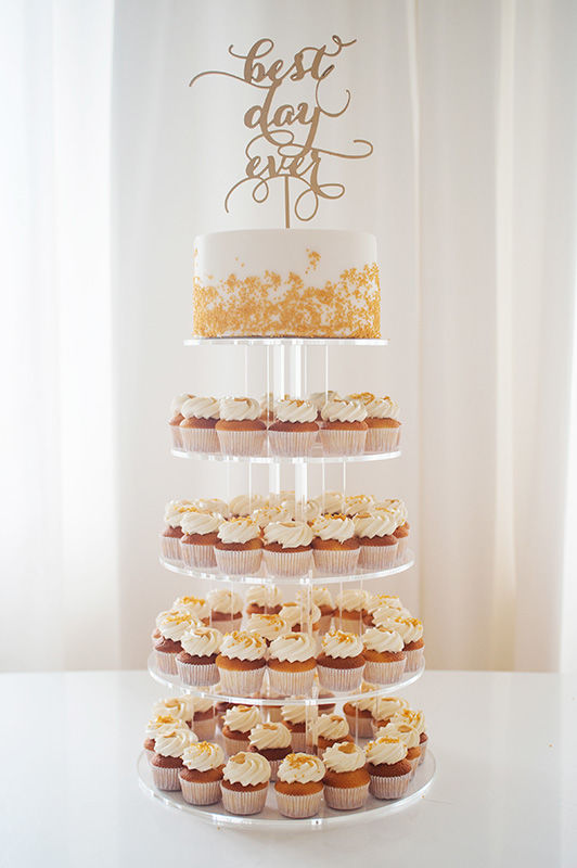 Wedding Cupcake Etagere mit Cake und Mini Cupcakes |  Foto: Die Zuckerbäckerin