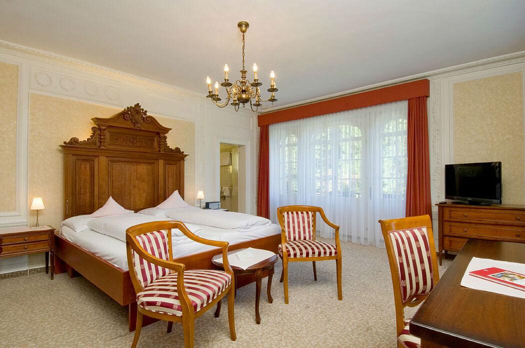 Beispiel: Hotelzimmer, Foto: Hotel Schloss Ragaz.