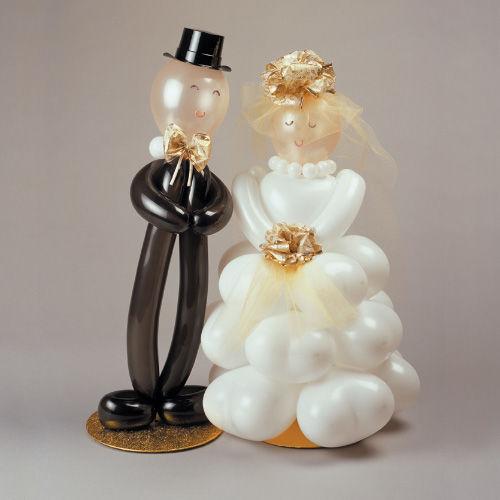 Beispiel: Ballons Brautpaar, Foto: Ballonwerk.