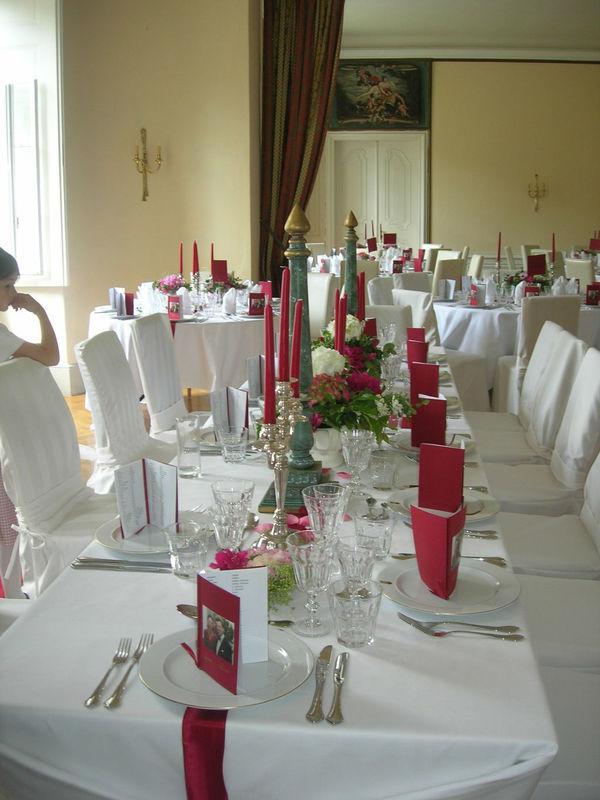 Hochzeitsdekoration, Foto: Schloss Reichstädt