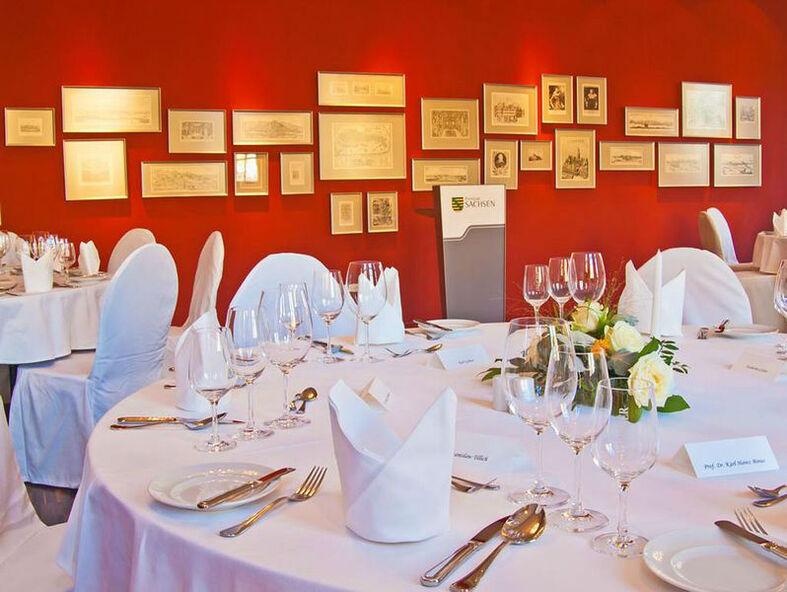Beispiel: Restaurant - Tischdekoration, Foto: Restaurant Heinricus.