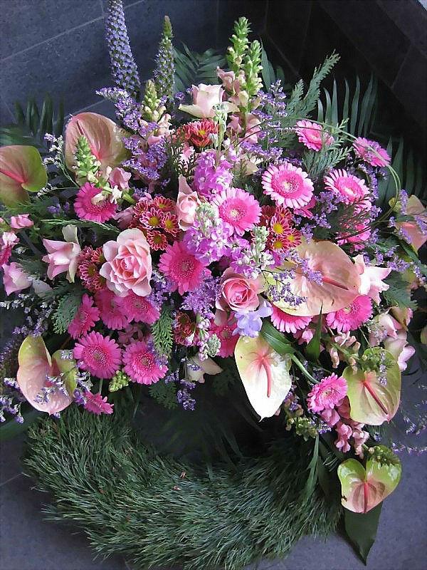 Beispiel: Blumengestecke, Foto: Blumen-Heller.