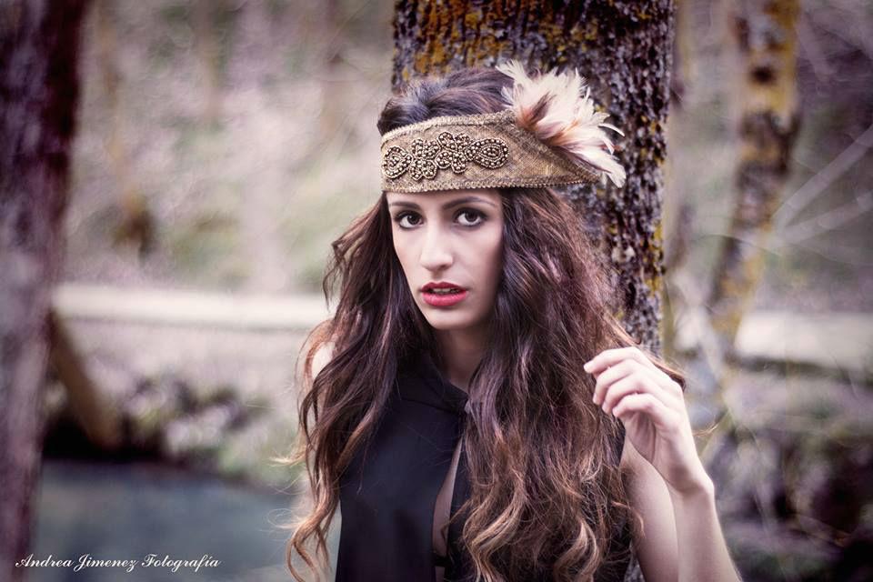 Bandeau en oro envejecido,puro estilo... Fotógrafia-Andrea Jmenez Modelo Vanessa Fernández Estilismo-Sira Camacho