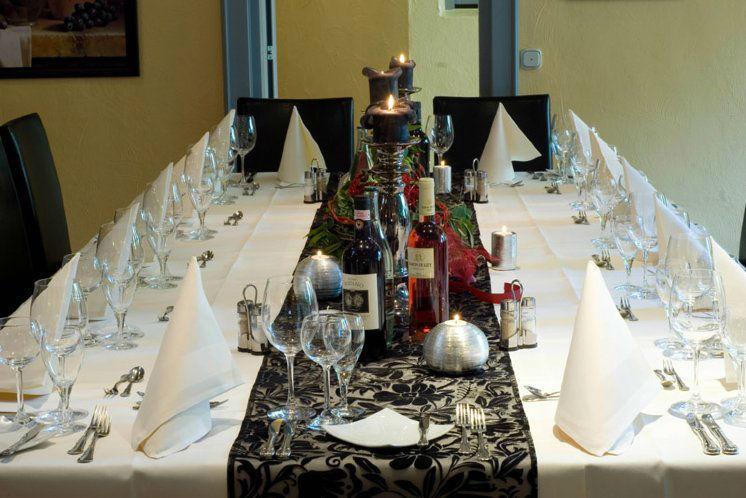 Beispiel: Bankett - Tischdekoration, Foto: Landhaus Alte Scheune.