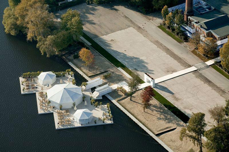 Beispiel: Luftaufnahme, Foto: Event Island.