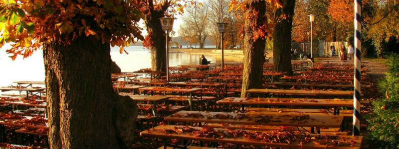Beispiel: Biergarten im November, Foto: Hotel Seehof Herrsching.