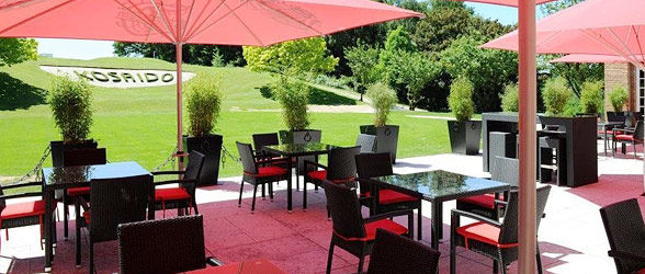 Beispiel: Terrasse, Foto: Kosaido International Golf Club.