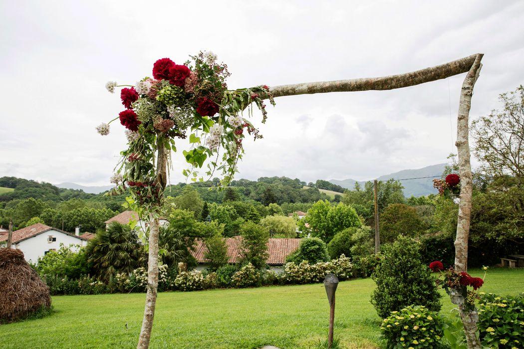 Arche florale dans le parc de 6000m2