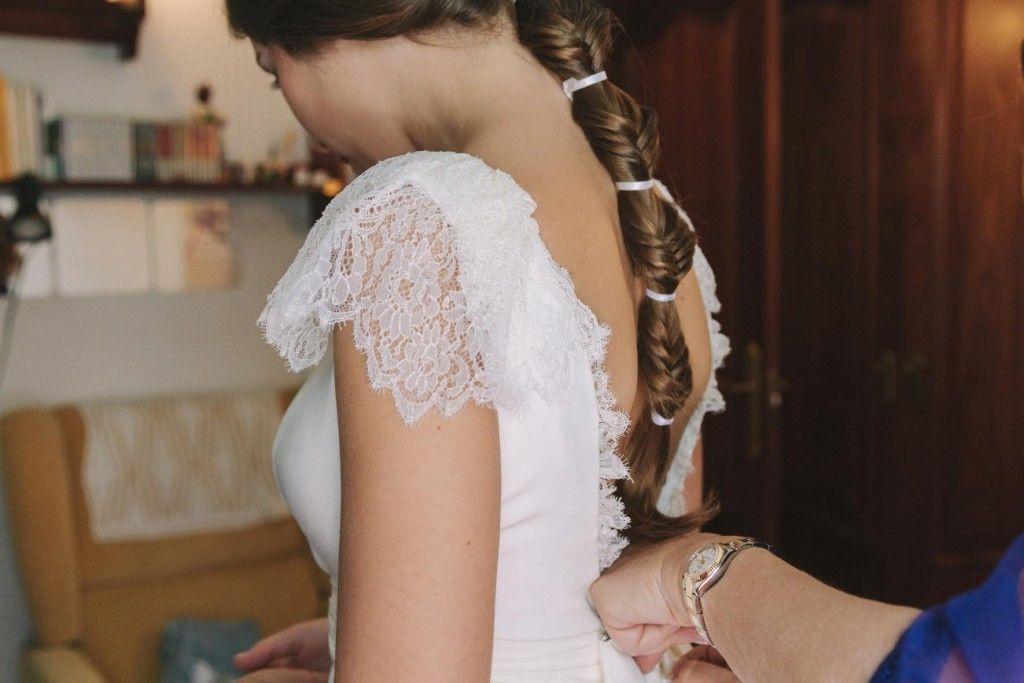 #trenzaCordón by Marieta Hairstyle Foto Muy muy felices Vestido Inuñez
