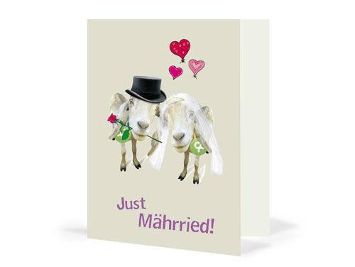 Geschenkkarte Ziegenpaar