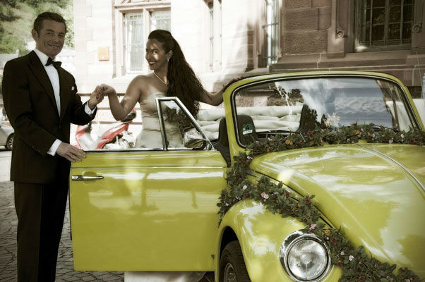 Beispiel: VW Käfer Cabrio als Brautauto, Foto: Oldie².