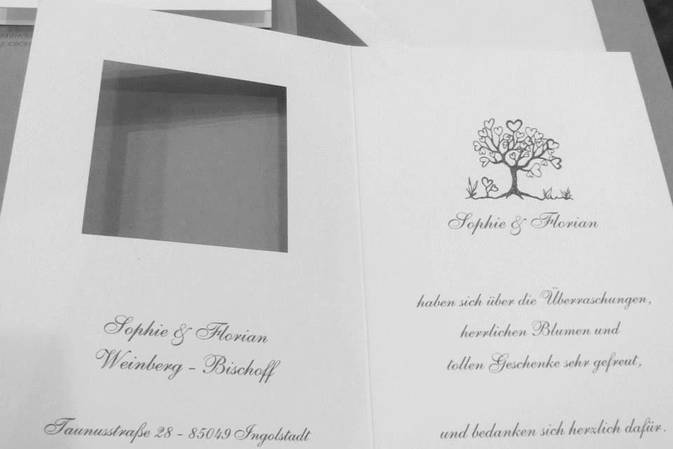 Beispiel: Einladungskarte, Foto: Schacht & Westerich Papierhaus.