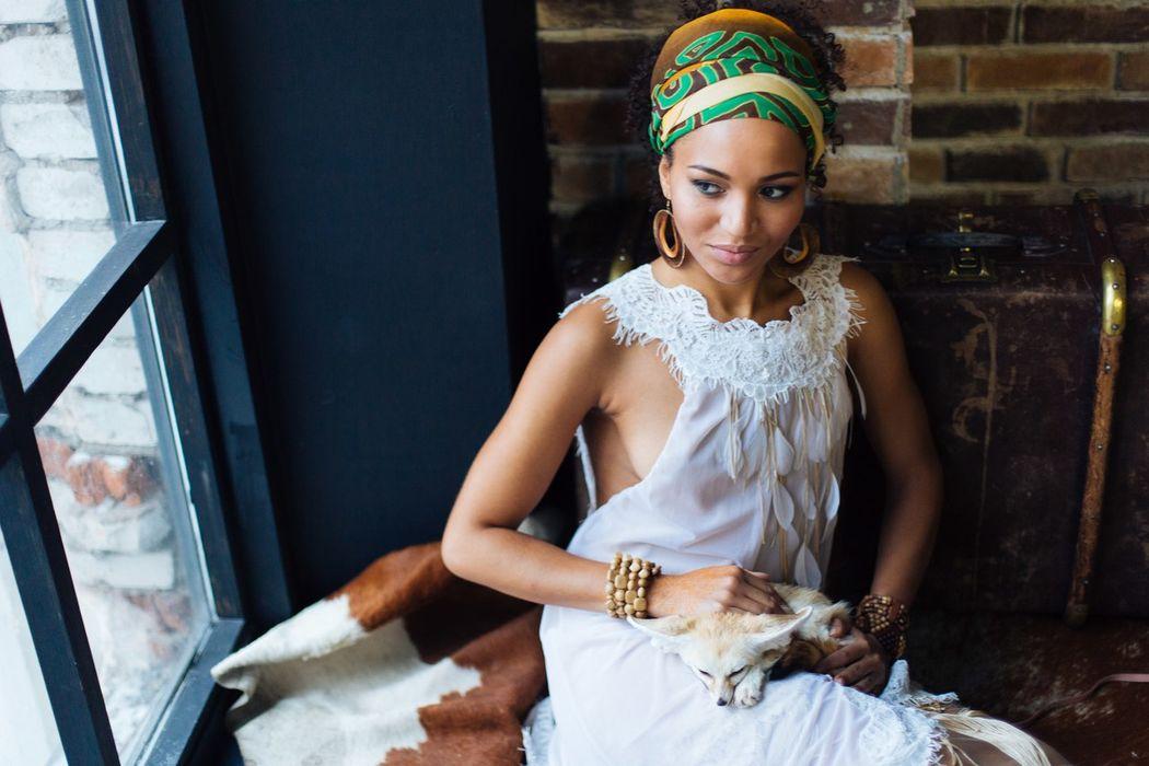 Невеста Каролина Стилизованная Африканская свадьба