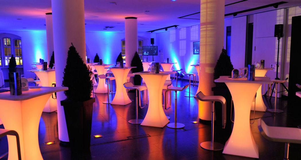 Beispiel: Veranstaltungsebene - Empfang, Foto: Altes Rathaus Hannover.