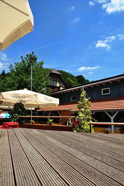Beispiel: Terrasse, Foto: Klosterhof Neuburg.