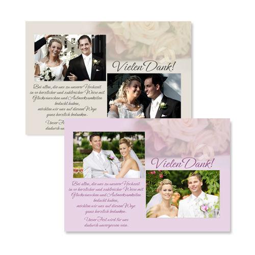 Beispiel: Hochzeitsdanksagungskarten, Foto: Colli-Cards.