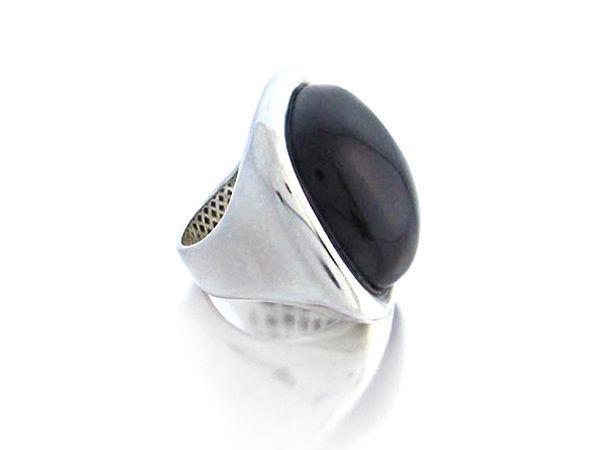 Anillo de Plata y Onix negro | Platua - Joyería Online