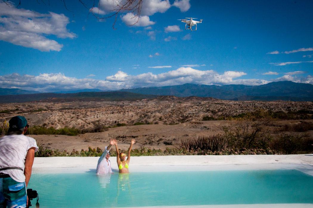Fotografo de Bodas Destino - drone