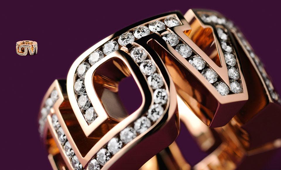 Beispiel: Love-Ring Roségold mit Brillanten, Foto: Goldschmiede Schubart.