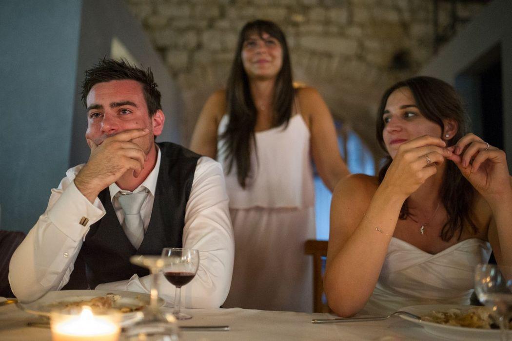 Emotion du marié durant la soirée
