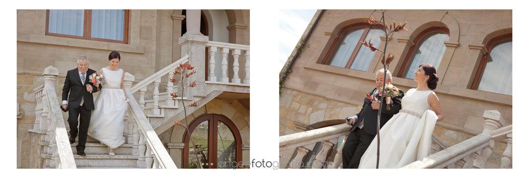 Ángela González Fotografía. Boda en exteriores de Palacio de Luces de Colunga
