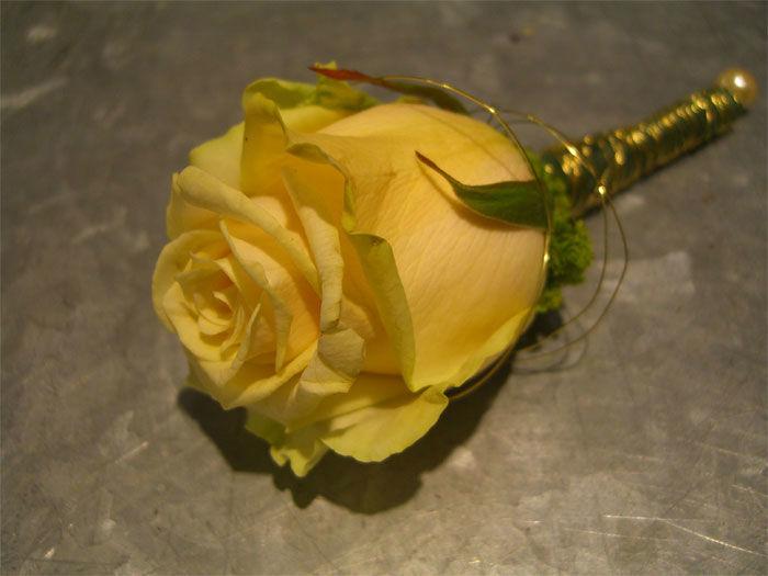 Beispiel: Gelbe Rose, Foto: Floristeria.