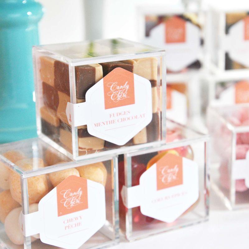 Candy Chéri, cubes de confiseries