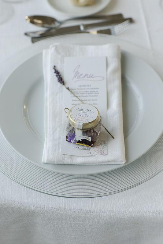 Exemplo de Mel aromatizado Beesweet num Casamento