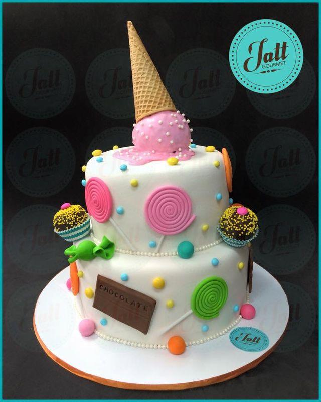 Pastel de compleaños inspirado en dulces