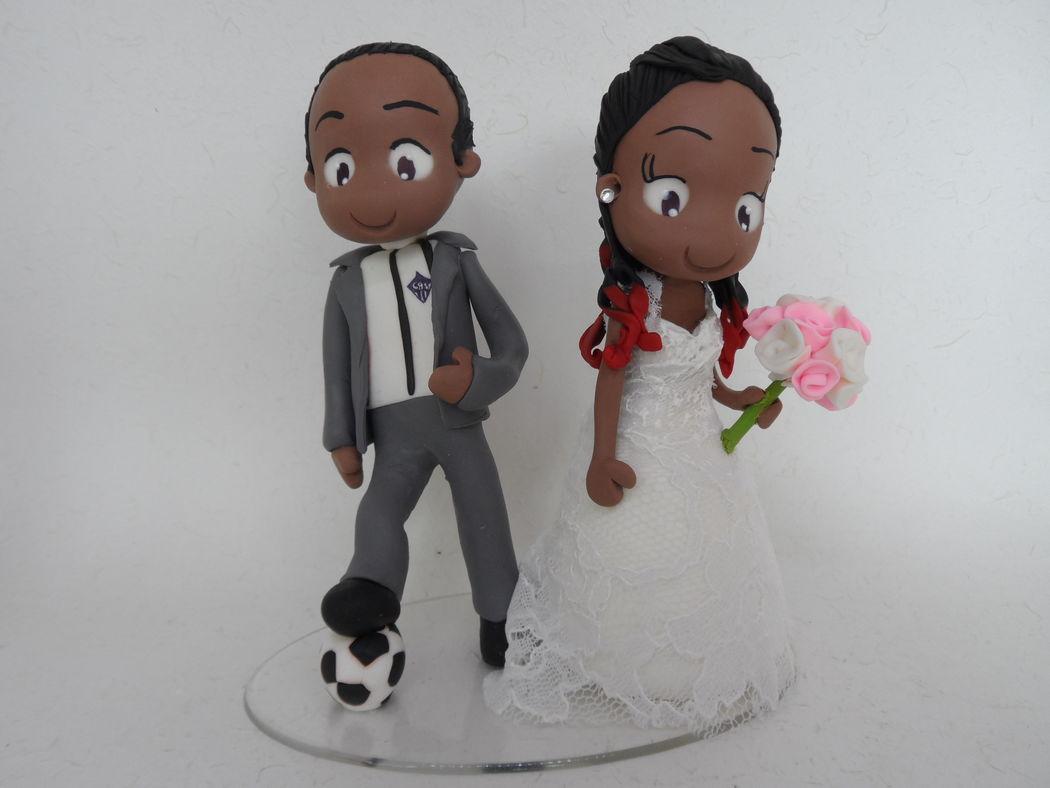 Noivinho de Biscuit Personalizado, noivinho com bola de futebol.