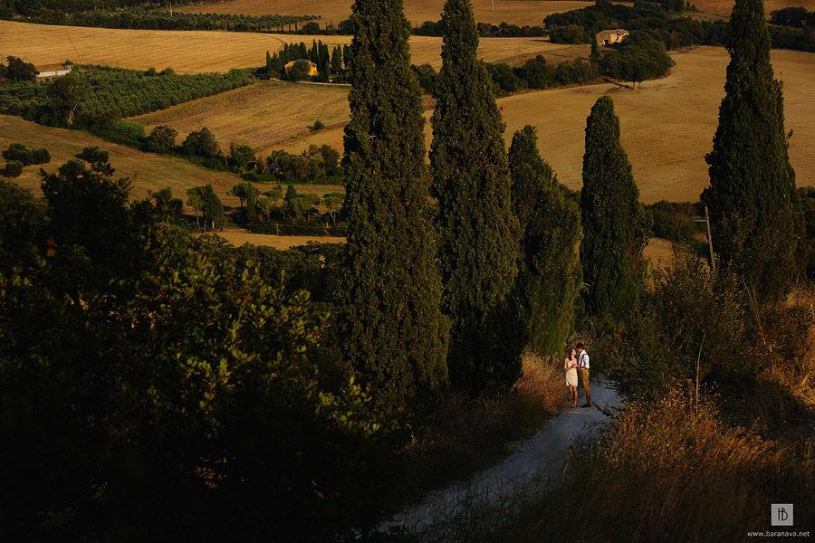 Романтическая фотосъемка в Тоскане