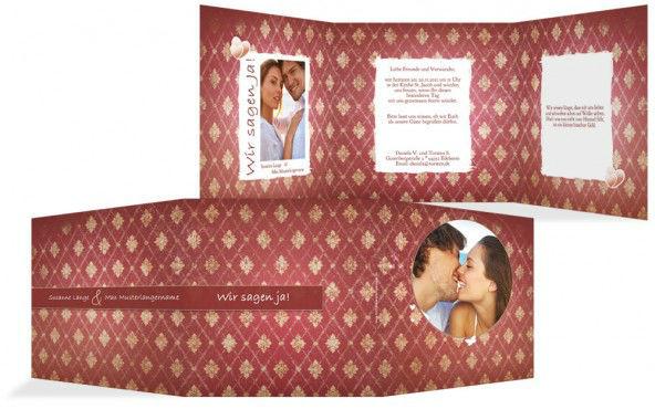 Beispiel: Individuelles Kartendesign, Foto: Hochzeitskarten- Paradies.