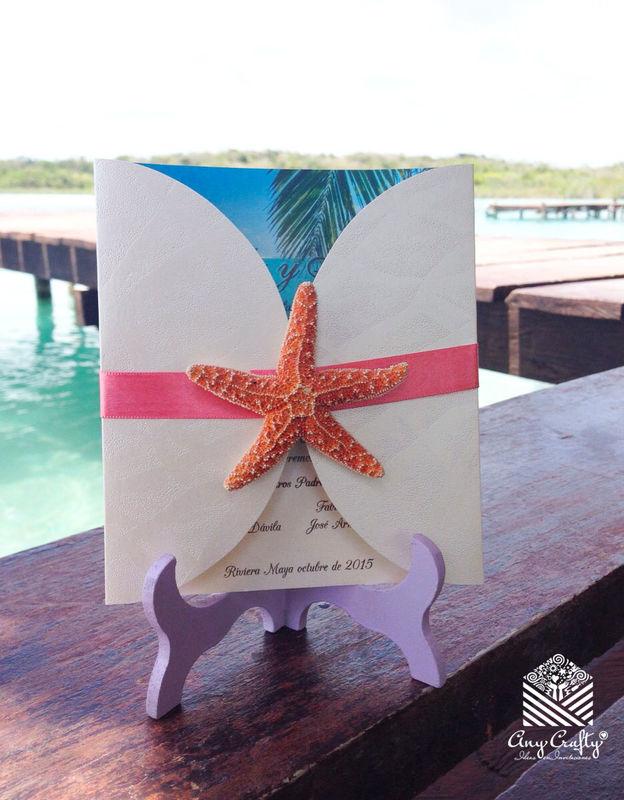 invitacion estrella mar coral