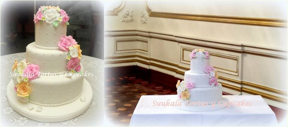 Torta Romántica Rosas Pastel