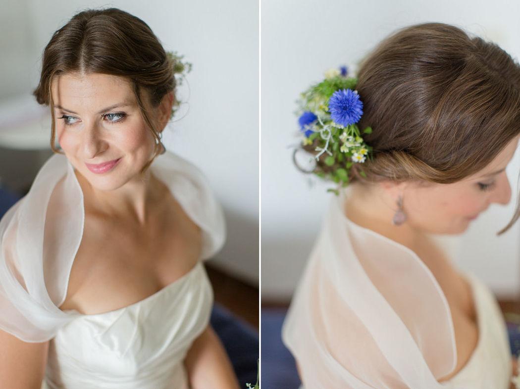 Beispiel: Portrait der Braut, Foto: Dorelies Hofer.